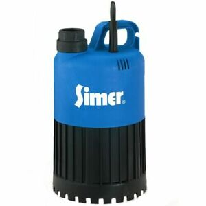 Simer 2385 Geyser 50 Gpm 1 1 4 Thermoplastic Stainless Steel Submersible