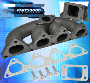Cast Iron Turbo Manifold T3 t4 Honda Civic Integra Crx Del Sol B16 B18 Engine