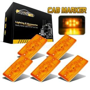 5pc Amber yellow 6 Led Cab Marker Roof Running Top Lights For Freightliner volvo