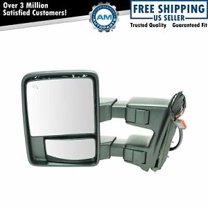 Tow Mirror Heat Signal Power Folding Telescoping Driver Side Left For Super Duty