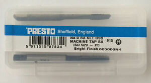 Presto Uk 0ba Taps And Dies Hss First Second Plug Direct From Rdgtools