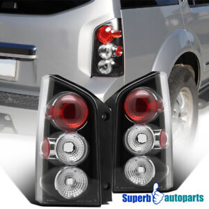 For 2005 2012 Nissan Pathfinder Black Replacement Tail Lights Rear Brake Lamps