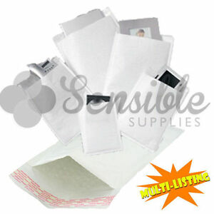 Padded Envelopes White Lite Bubble Mail Bags Cd Dvd A3 A4 A5 10 25 50 100