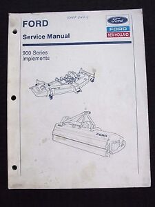 Ford 1120 1220 1320 1520 1620 1720 1920 Tractor Mower Cutter Repair Manual