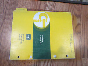 John Deere Planter Monitoring Systems Technical Manual Tm 1270 Issue B3