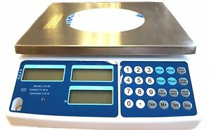 Digital Price Computing Produce Count Weight Portable Scale 60lb Ch 60