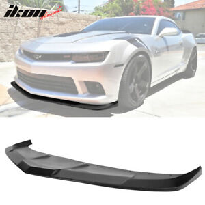 Fits 14 15 Chevy Camaro Ss 1le Style Splitter Front Bumper Lip Pu
