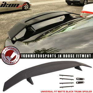 Fits 2 Post Universal Matte Black Trunk Spoiler Wing Abs