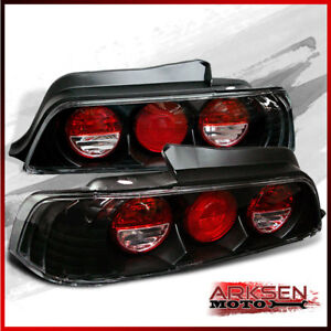Fits 97 02 Honda Prelude Jdm Blk Altezza Tail Lights Rear Brake Lamps Pair