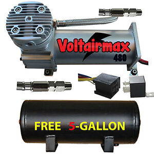 V 480c Air Compressor Ride 200psi Rated W Free 5 Gal Air Tank