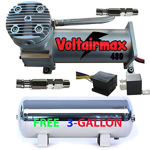 480c Air Compressor Ride Kit 200psi Rated With Free Gallon Stainless Air Tank