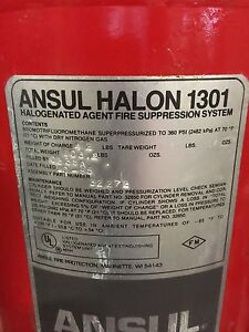 Fully Charged Used Bottle Of Ansul Halon 1301
