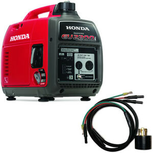 Honda Eu2200i Companion 1800 Watt Portable Inverter Generator W Parallel Cab