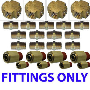 Xfitx Air Suspension Valves Fittings Only Kit All U Need For 8 Brass Valves 1 2