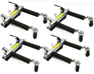 Pro Go Under Car Jack Lift Heavy Duty Hydraulic Car Dolly Set Of 4pc 1500lbs