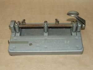 Vintage Wilson Jones Hummer 3 Hole Adjustable Paper Punch 314 Heavy Solid