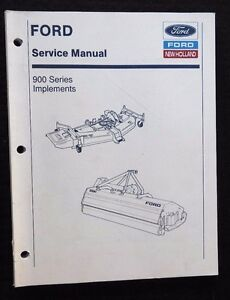 Genuine Ford 1120 1220 1320 1520 1720 1920 Tractor Mower Cutters Diggers Manual