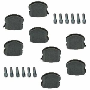 Ac Delco 17d1185amh Semi Metallic Disc Brake Pad Rear Set With Pins For Z06