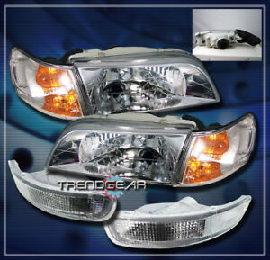1993 1997 Toyota Corolla Crystal Head Lights corner bumper Signal Lamp Jdm Clear