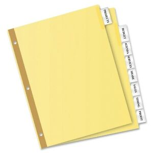 Avery 8 tab Binder Dividers Insertable Clear Big Tabs 24 Sets 11115