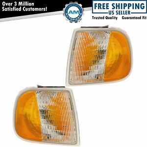 Side Marker Corner Parking Lights Turn Signals Pair Set For Ford F series Truck