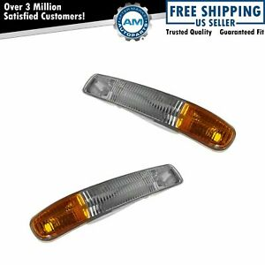 Corner Parking Turn Signal Light Lamp Left Right Pair Set For Gmc Sierra Yukon