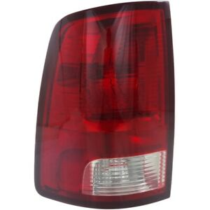 Tail Light For 2011 2016 Ram 1500 Slt Lh W Bulb Clear Red Lens Capa