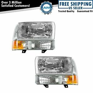 Performance Headlight Parking Light Kit Set Of 4 For Ford Pickup Excursion New
