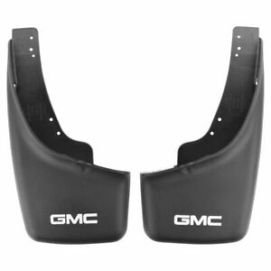 Oem Splash Guard Mud Flap Molded Black Rear Set Pair For 99 07 Gmc Sierra New