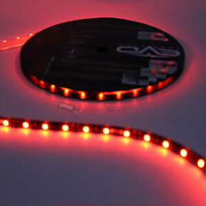 5m Roll Super Red Ultrabrights Led Flexible 12v Car Waterproof Light Strip 16 4