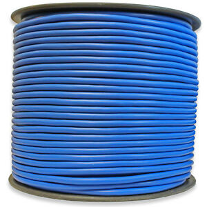 500 Ft Foot Reel Roll Blue Xlr Mic Microphone Balanced Shielded Audio Cable Wire
