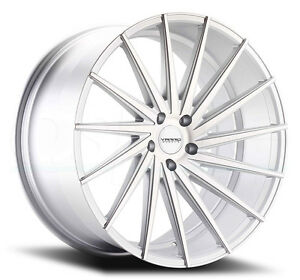 22x9 Varro Vd15 5x130mm 42 Matte Silver Brushed Face Wheels Set Of 4