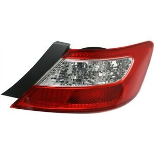 Tail Light For 2006 2008 Honda Civic Rh Coupe