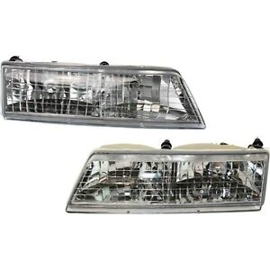 Headlight Set For 95 97 Mercury Grand Marquis Sedan Left And Right With Bulb 2pc