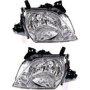 Headlight Set For 2002 2003 Mazda Mpv Es Lx Models Left And Right 2pc