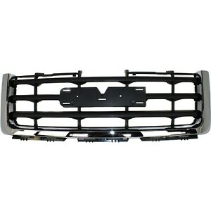 Grille For 2007 2013 Gmc Sierra 1500 Chrome Shell W Black Insert Plastic