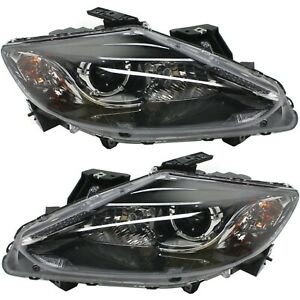 Headlight Set For 2013 2014 2015 Mazda Cx 9 Left And Right With Bulb 2pc