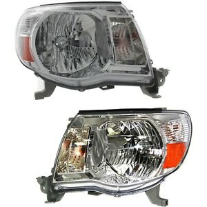 Headlight Set For 2005 2011 Toyota Tacoma Left And Right With Bulb Capa 2pc