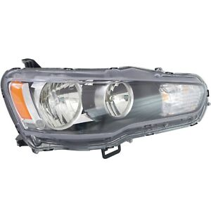 Headlight For 2008 2009 Mitsubishi Lancer Passenger Side W Bulb