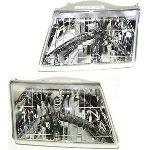 Headlight Set For 2001 2007 Mazda B3000 2001 2008 B2300 Lh Rh W Bulb