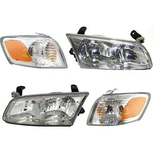 Headlight Corner Light Lamp Kit Set Of 4 For 00 01 Toyota Camry New