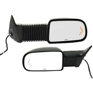 Towing Mirror Set For 2003 2006 Chevrolet Silverado 1500 Camper Textured 2pc