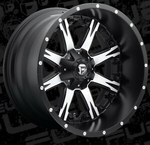 Fuel Nutz D541 22x12 8x170 Et 44 Black Machined Wheels Rims set Of 4