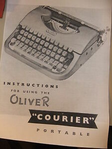Instructions Typewriter Oliver Courier Portable Cd email