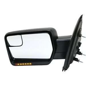 New Mirror Heated F150 Truck Left Hand Side In housing Turn Signal Light Driver