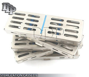 10 Dental Surgical Sterilization Cassette Racks Box For 5 Instruments