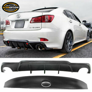 Fits For 06 12 Lexus Is250 Is350 Dmr Style Rear Diffuser Lip trunk Wing Spoiler