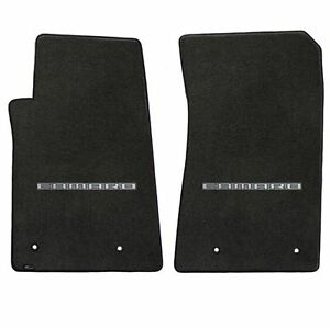 Lloyd Mats Velourtex 2 Piece Front Floor Mat Set Ebony 2010 2015 Camaro Logo