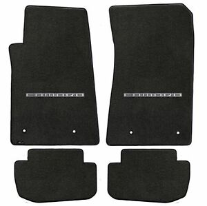 Lloyd Mats Velourtex 4 Piece Floor Mat Set Ebony 2010 2015 Camaro Logo
