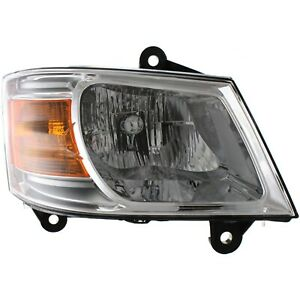 Headlight For 2008 2010 Dodge Grand Caravan Passenger Side W Bulb